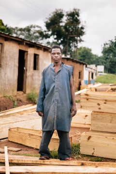 "Fredrick Ngoma, coffin maker on ""Coffin Road"", Lilongwe"