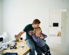 Morten Lund with his daughter